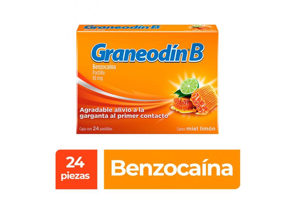 Graneodín B 10mg Caja Con 24 Pastilla Sabor Miel-Limón