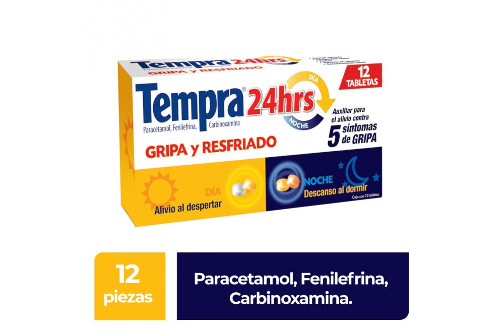 Tempra 24 Horas Paracetamol Fenilefrina