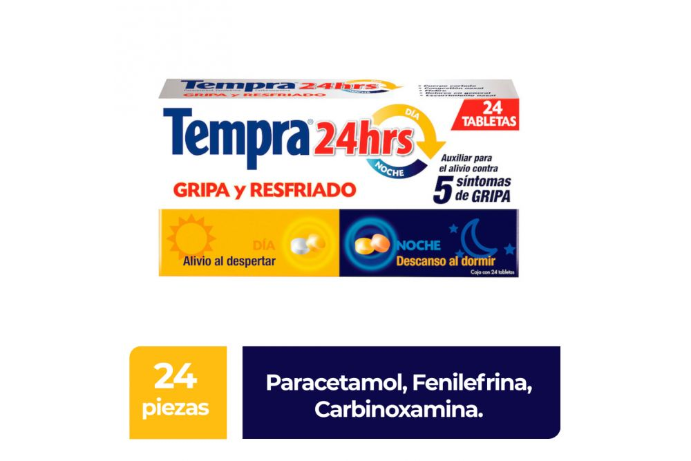 Tempra 24 Horas Paracetamol