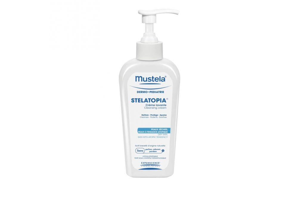Mustela Stelatopia Crema Lavante Para Cuerpo y Cabello Botella Con 200 mL
