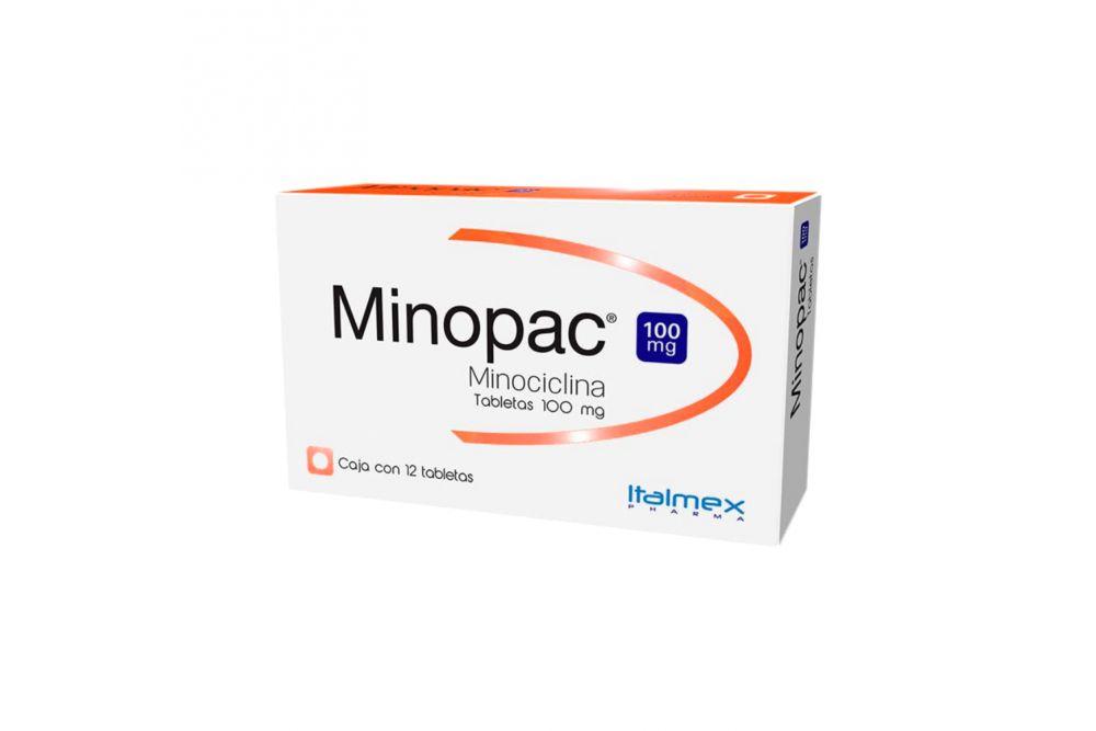 Minopac 100 mg Caja Con 12 Tabletas RX2