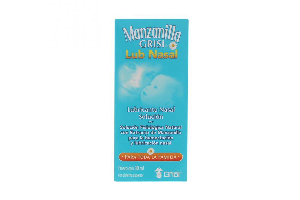 Manzanilla Grisi Lubricante Nasal Caja Con Frasco Aspersor Con 30 mL
