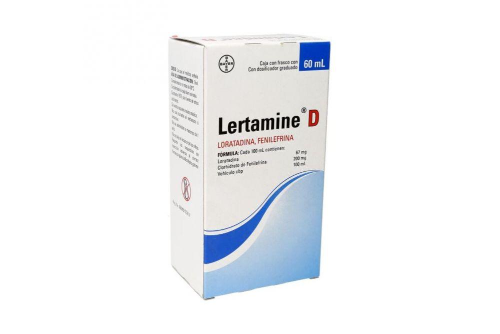 Lertamine D 67 mg / 200 mg Caja Con Frasco De 60 mL