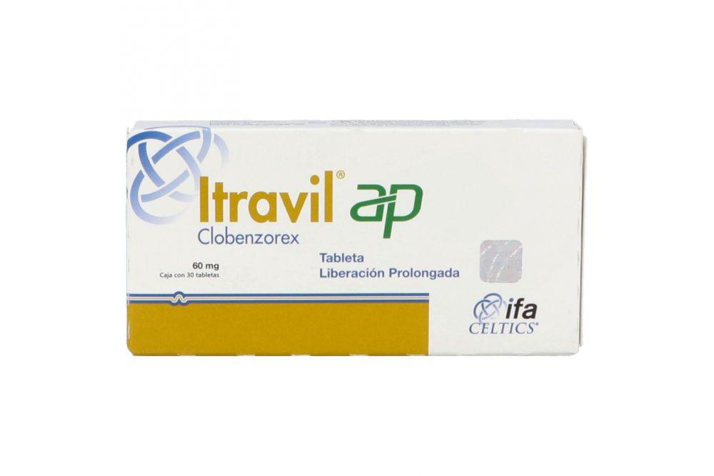 Itravil Ap 60 mg Caja Con 30 Cápsulas De Liberación Prolongada - RX1