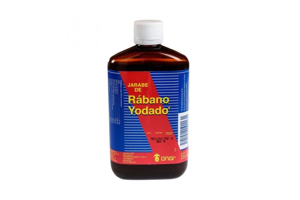 Jarabe De Rábano Yodado Botella Con 220mL