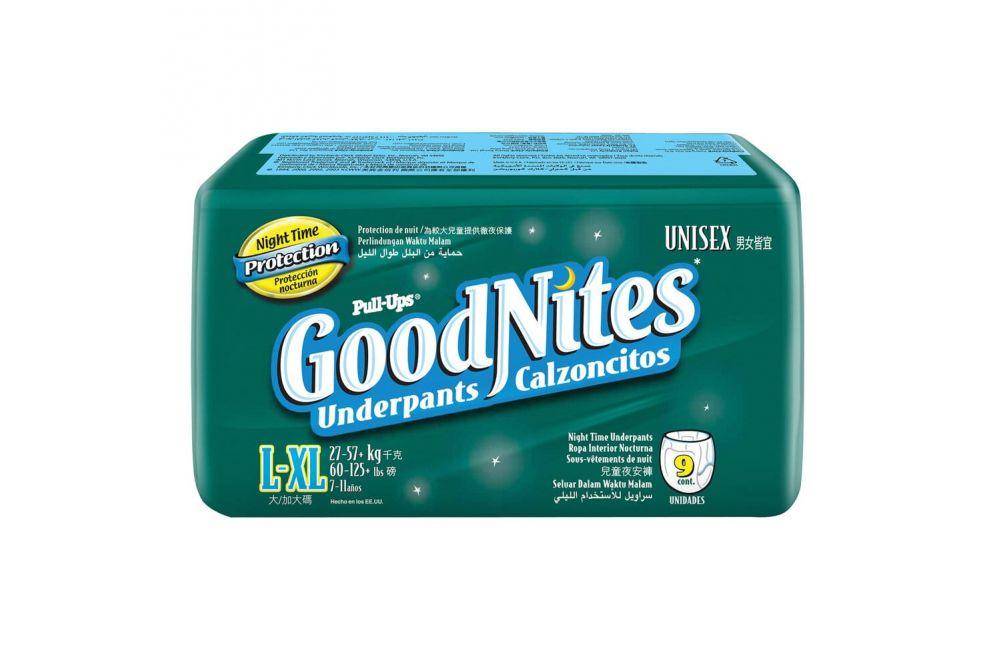 Huggies Goodnites Etapa 5 Unisex Empaque Con 9 Piezas