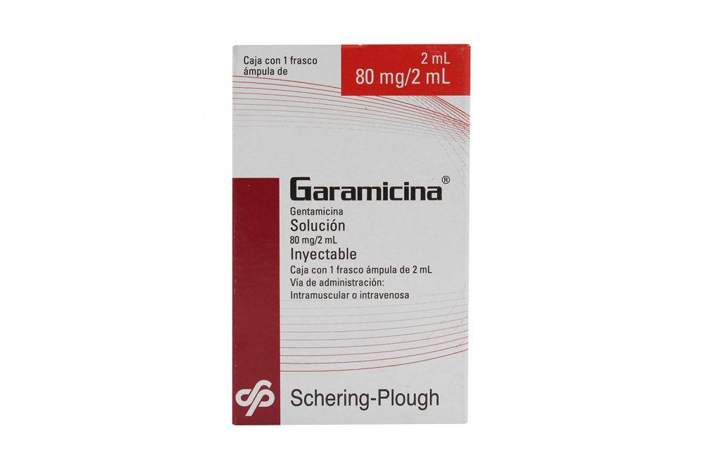 Garamicina 80mg Caja Con Ampolleta Con 2mL -RX2