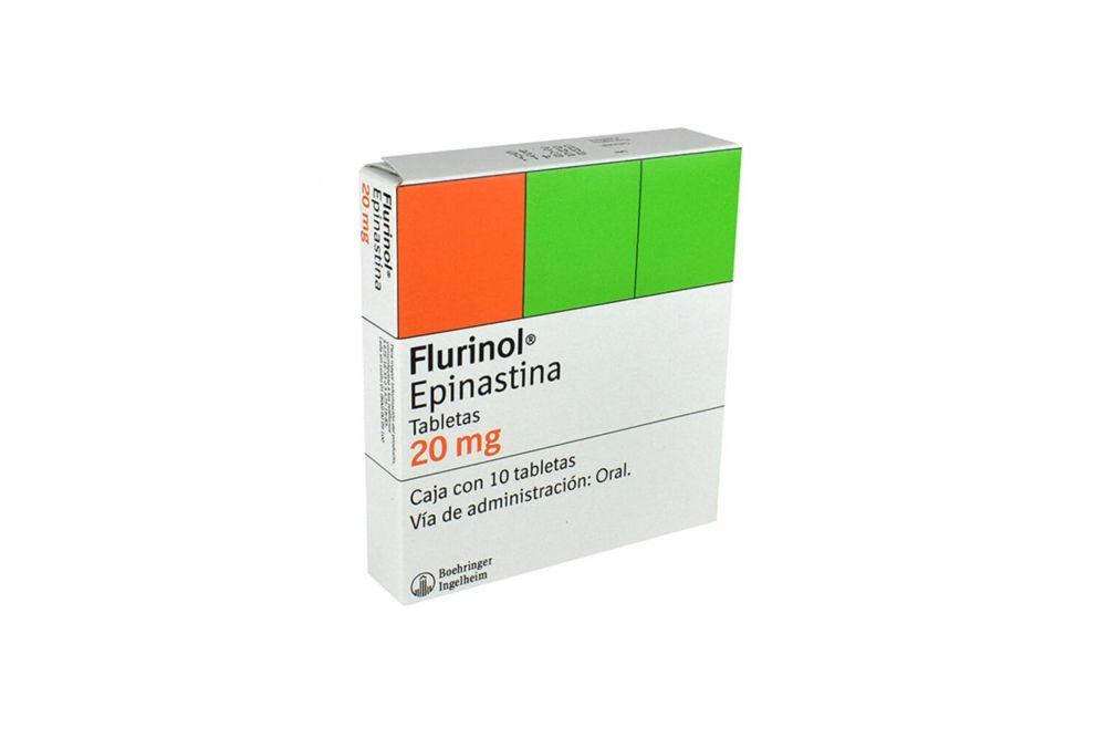 Flurinol 20 mg Caja Con 10 Tabletas