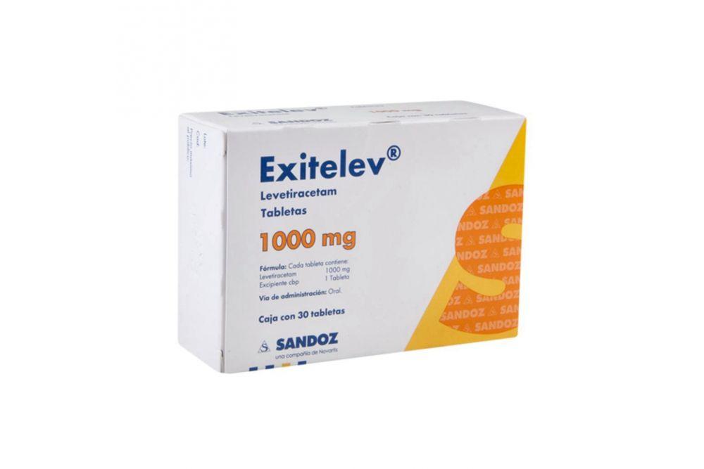 Exitelev 1000 mg Caja Con 30 Tabletas