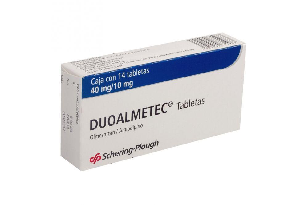 Duoalmetec  40mg/10mg Caja Con 14 Tabletas