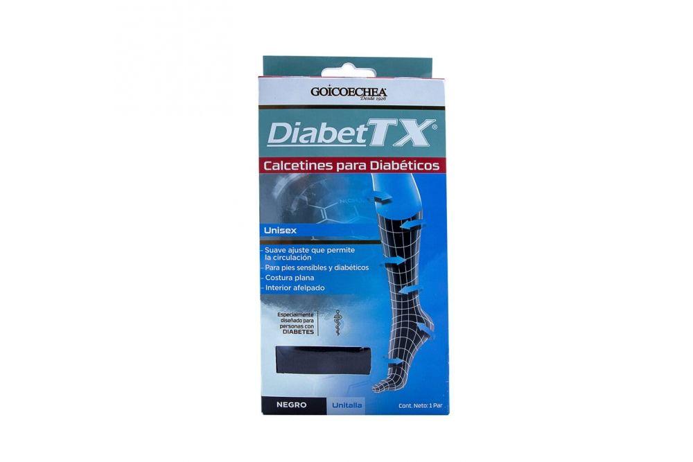 DiabeTx Calcetines Para Diabéticos Caja Con 1 Par Negro  Unitalla