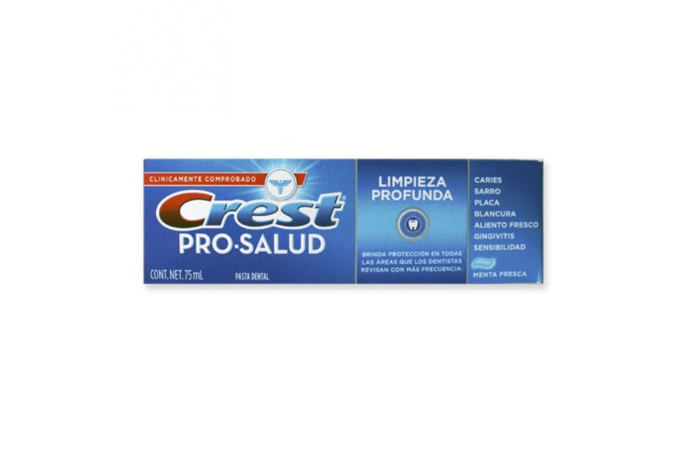 Crest Pro-Salud Pasta Dental Limpieza Profunda Caja Con Tubo Con 75 mL
