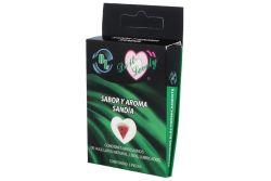 Preservativo DL Empaque Con 3 Piezas Sabor Sandia