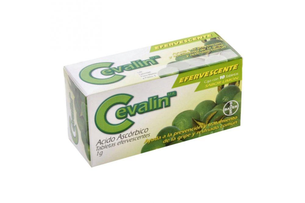 Cevalin Efervescente 1g Caja Con 10 Tabletas Efervescentes Sabor Limón