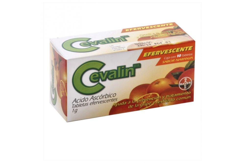 Cevalin Efervescente 1 g Caja Con 10 Tabletas Efervescentes Sabor Naranja