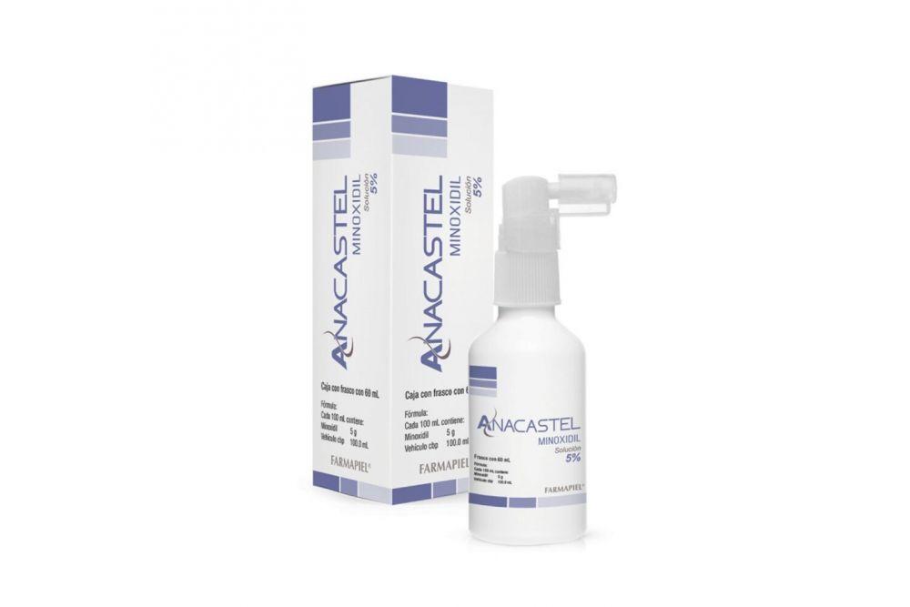 Anacastel Minoxidil Solución 5% Caja Con Frasco Con 60 mL