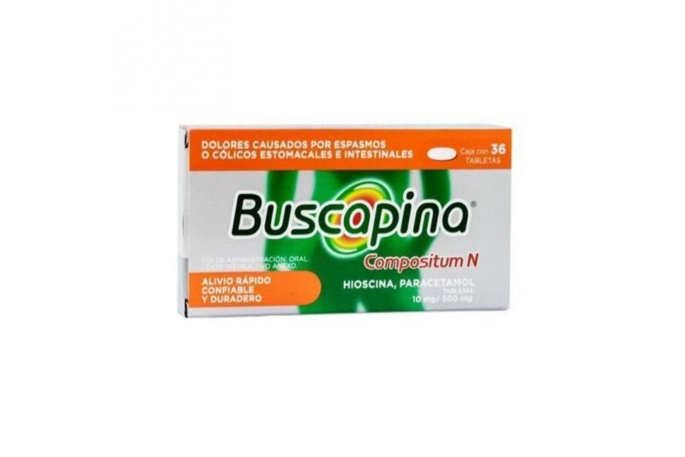 Buscapina Compositum N 10 mg / 500 mg Caja Con 36 Tabletas