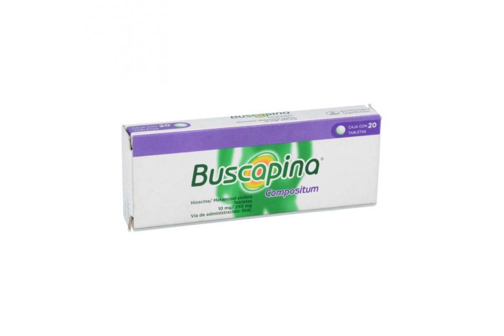 Buscapina Compositum 10 mg / 250 mg Caja Con 20 Tabletas