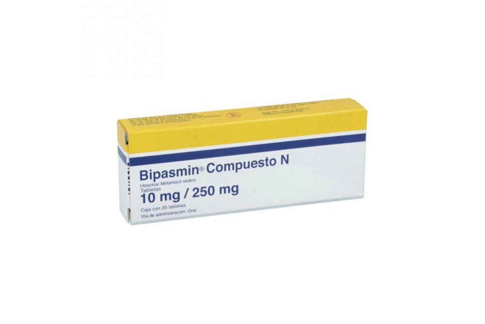 Bipasmin Compuesto N 10mg/250mg Caja Con 20 Tabletas
