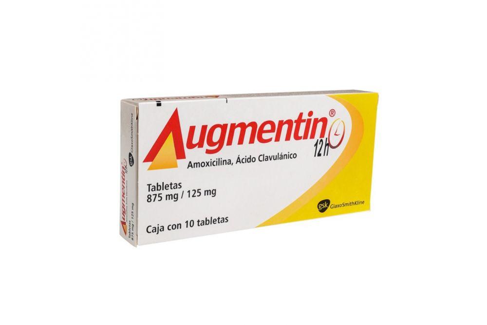 Augmentin 12H 875 mg / 125 mg Caja Con 10 Tabletas - RX2