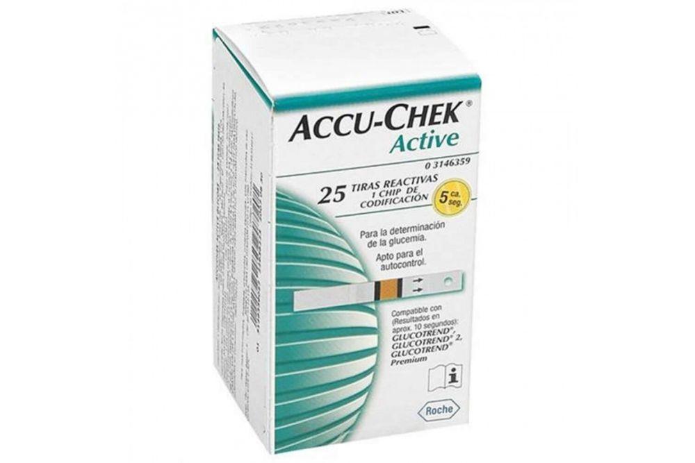Accu-Chek Active Caja  Con 25 Tiras Reactivas