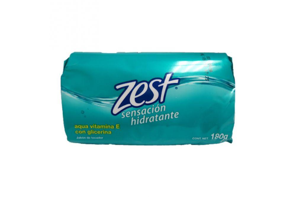 Zest Jabón De Tocador Sensación Hidratante Barra Con 180g