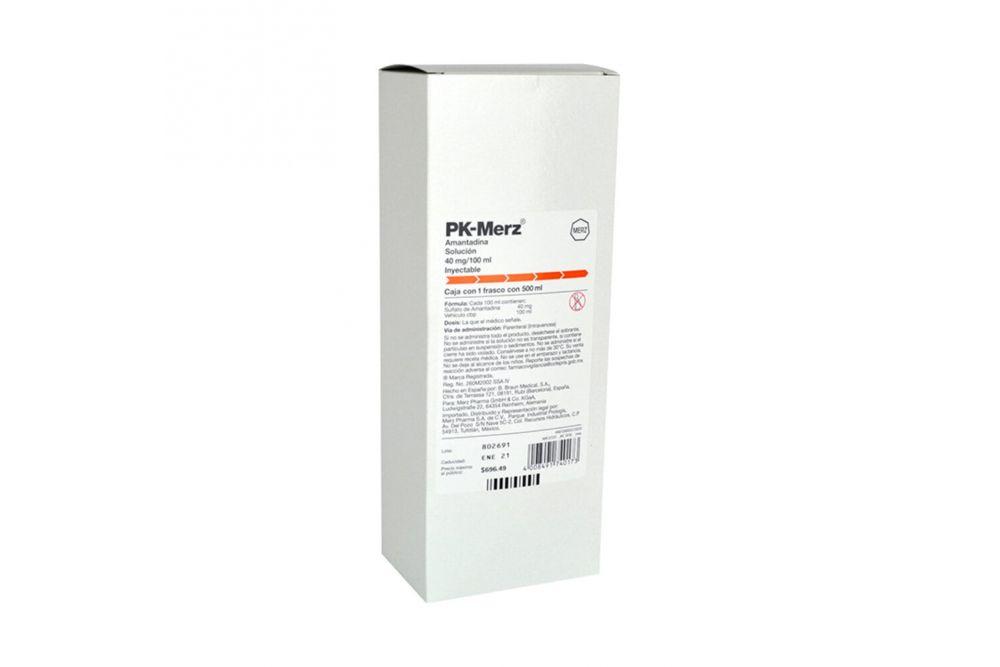Solución Para Infusión PK – MERZ 40 mg / 100 mL Frasco Con 500mL – Parkinson