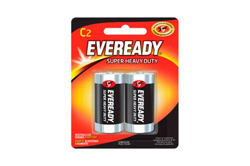 Pilas Eveready Extra Duración C Empaque Con 2 Pilas