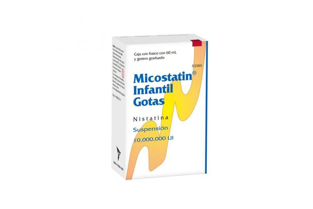 Micostatin Infantil Gotas 10,000,000 U Caja Con Frasco Con 60 mL