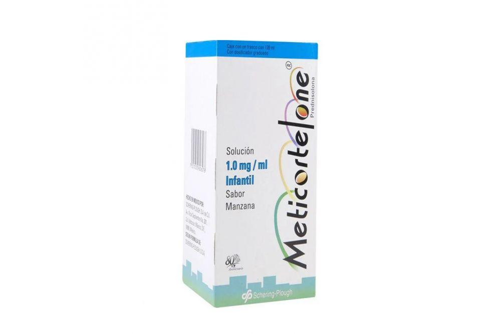 Meticortelone 1 mg / mL Caja Con Frasco Con 120 mL Sabor Manzana
