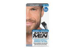 Just For Men Barba y Bigote Tinte Colorante Color Castaño Negro