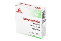 Furosemida 20 mg Solución Inyectable Caja Con 5 Ampolletas
