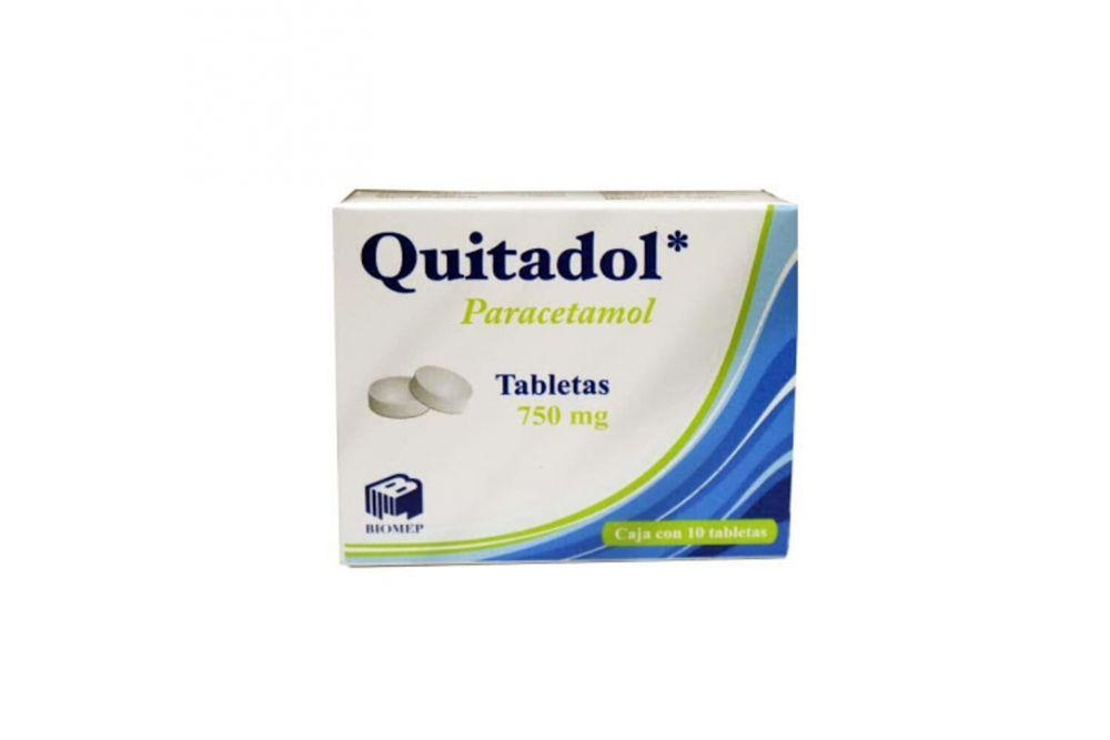 Quitadol 750 mg Caja Con 10 Tabletas