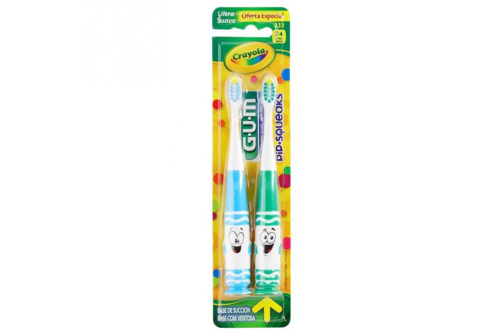 Cepillo Dental Infantil Gum Crayola Pip-Squek Con 1 Pieza