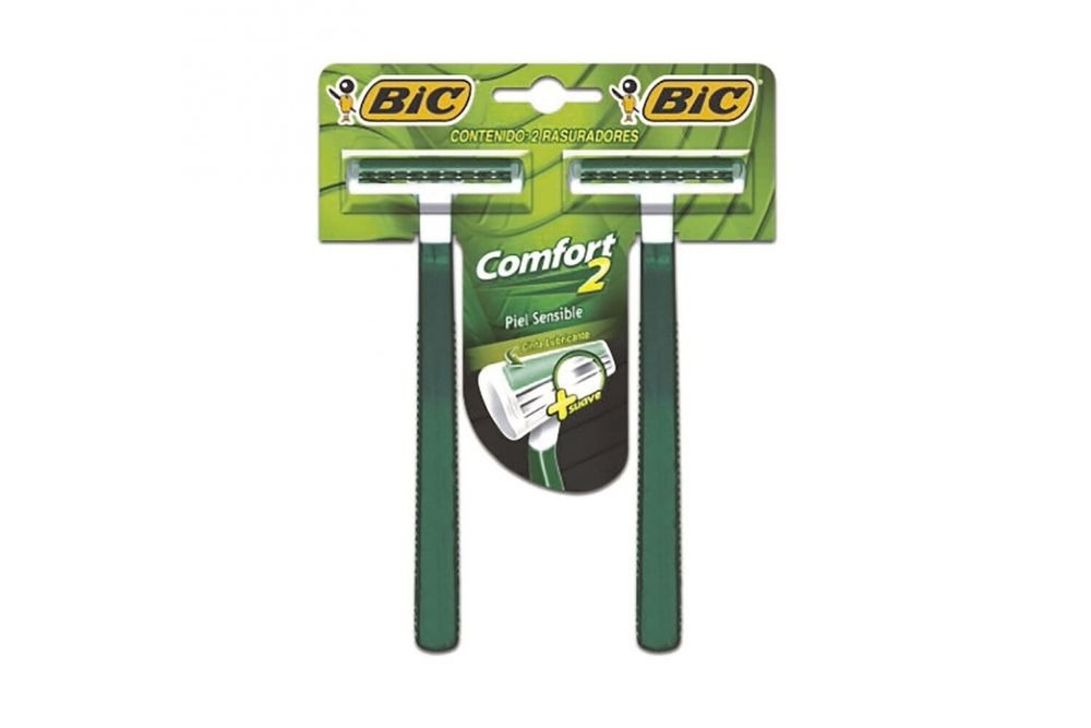 Bic Comfort Paquete Con 2 Rasuradores