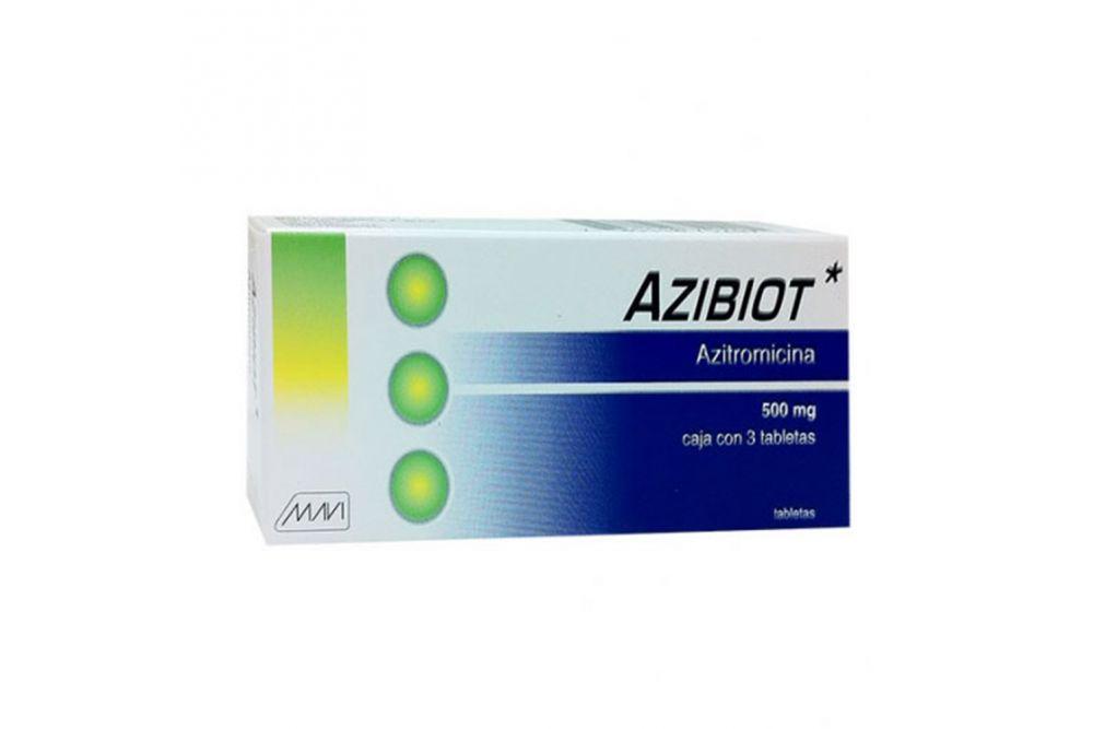 Azibiot 500 mg Caja Con 3 Tabletas - RX2