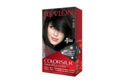 Tinte Revlon Colorsilk Negro Suave 11 Caja Con Frasco Con 130 mL