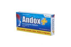 Andox 500 mg/50 mg Caja Con 20 Tabletas