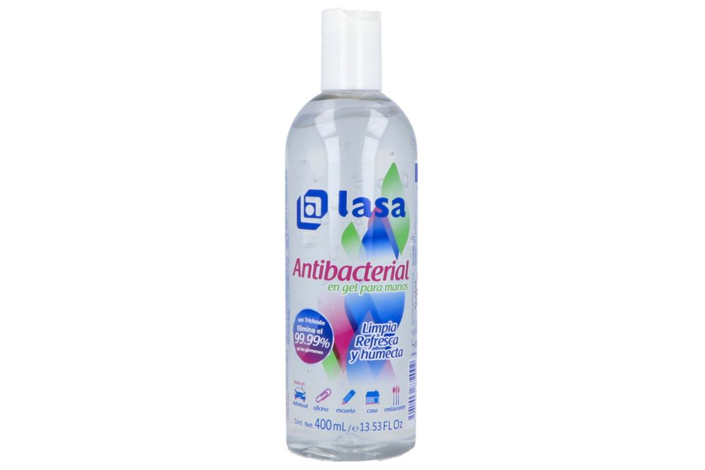 Lasa Gel Antibacterial Para Manos Botella Con 400 mL