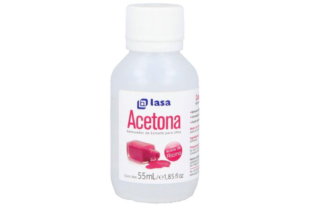 Acetona Lasa Con Aceite De Ricino Removedor De Esmalte Frasco Con 55 mL