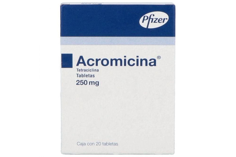 Acromicina 250 mg Caja Con 20 Tabletas RX2