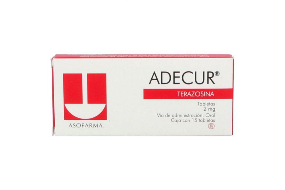 Adecur 2 mg Caja Con 15 Tabletas