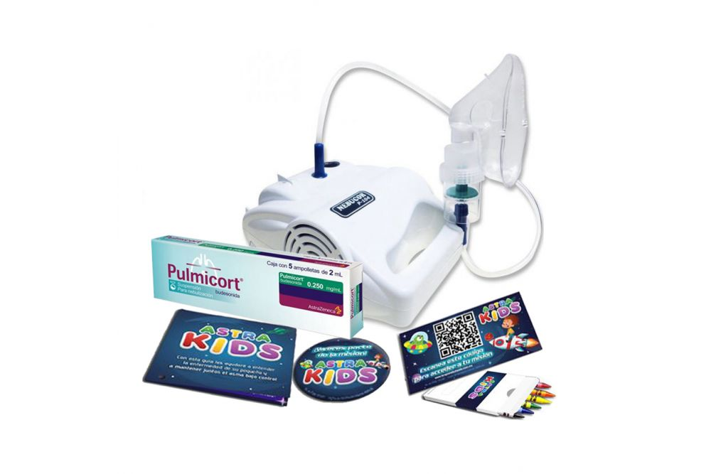 Kit Niños Nebulizador Nebucor + Pulmicort 250 mg