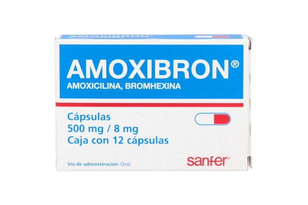 Amoxibron 500 mg/8 mg Caja Con 12 Cápsulas RX2