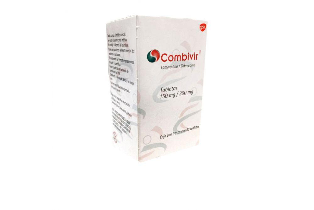 Combivir 150 mg/ 300 mg Caja Con 60 Tabletas
