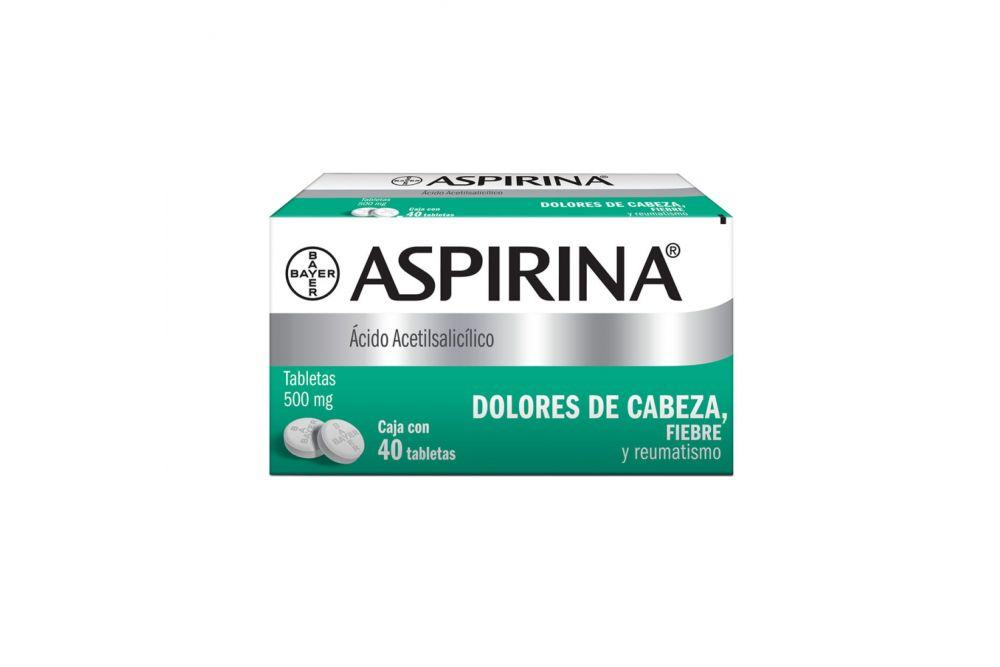Aspirina 500 mg Caja Con 40 Tabletas