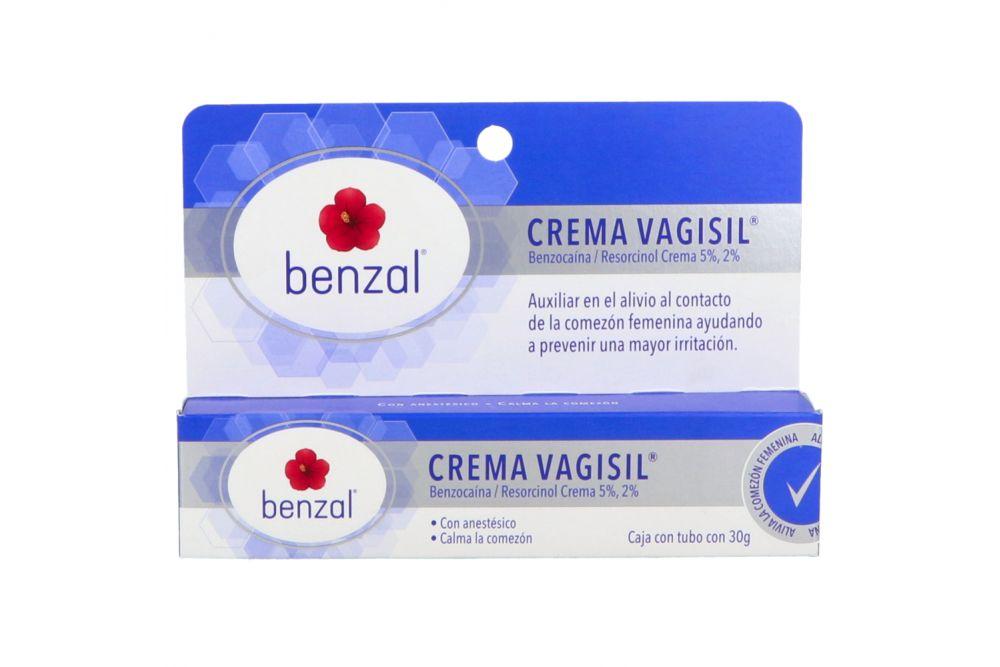 Benzal Crema Vagisil Caja Con Tubo Con 30 g
