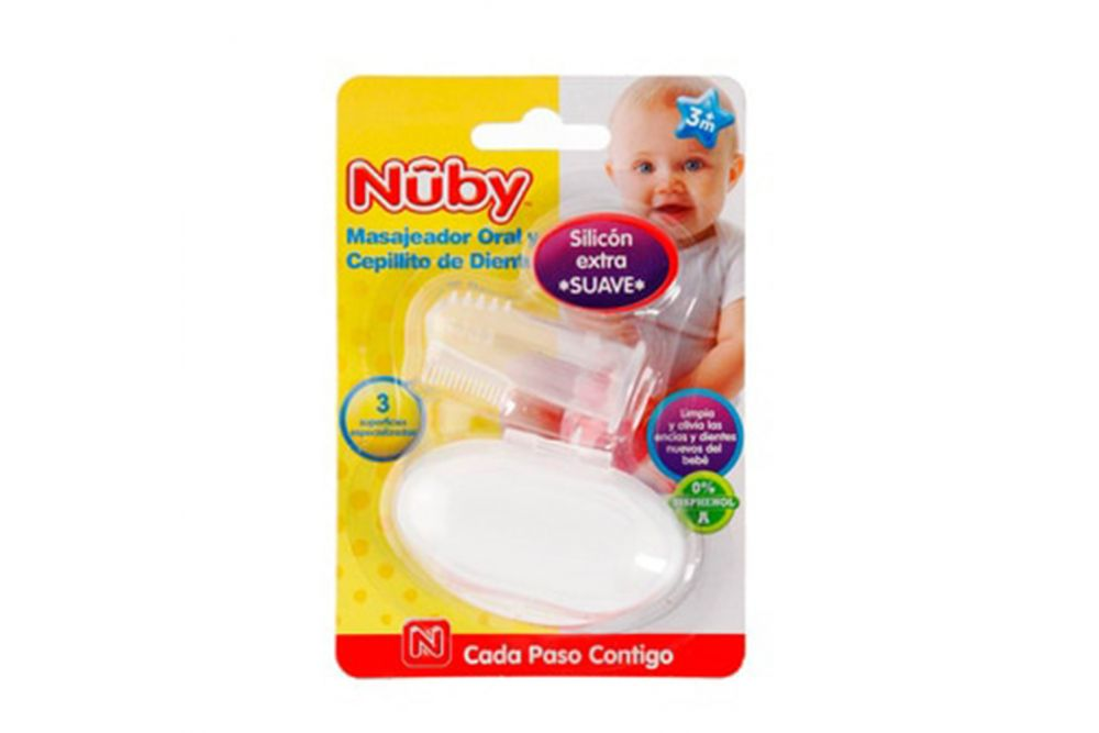 Cepillo Dental  Nuby Con Masajeador Oral