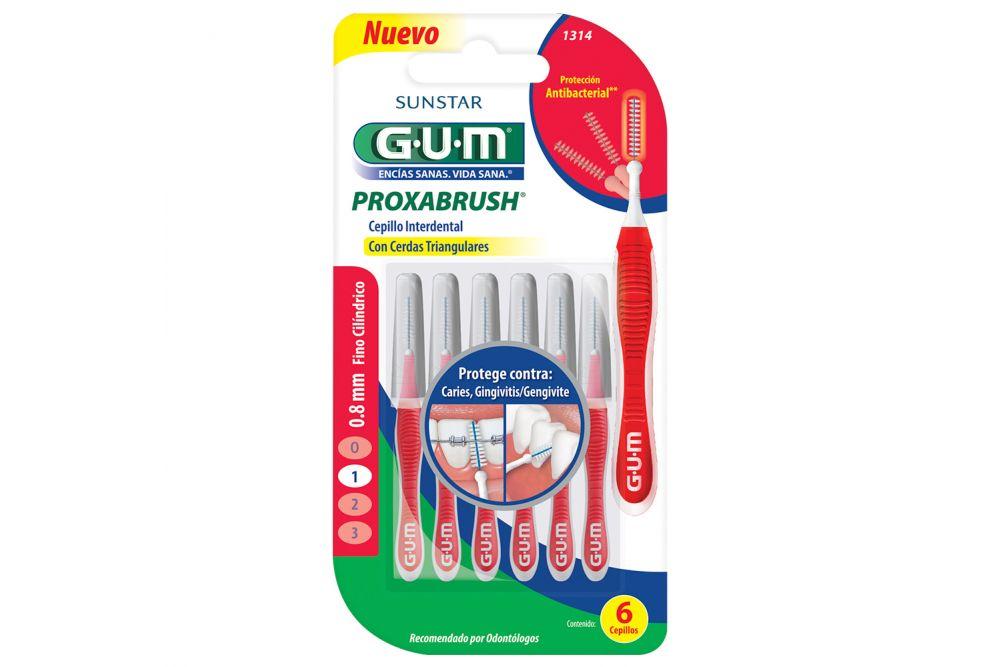 Cepillo Gum Trav-ler interdental Empaque con 4 piezas