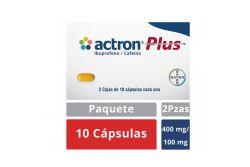Actron Plus 400 mg Caps 2 Caja Con 10 Cápsulas Cada Una